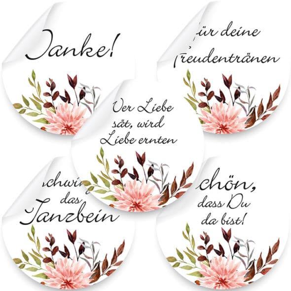 Aufkleber Herbst Pastell Produktbild