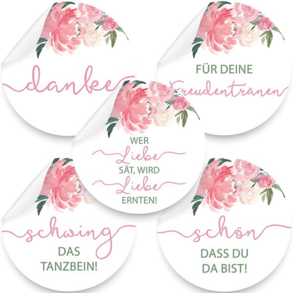 Produktbild Rosa Aufkleber