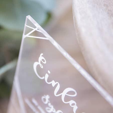 Acrylglas Einladung Linien 190205