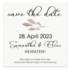 Weitere Informationen zur Save the Date Karte Cotton 7265591 Format: 120 mm x 120mm leicht cremefarbenes, gehämmertes Papier