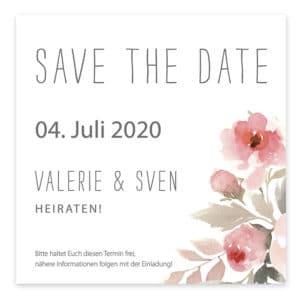 Save the Date Karte Blumenmeer 7285264
