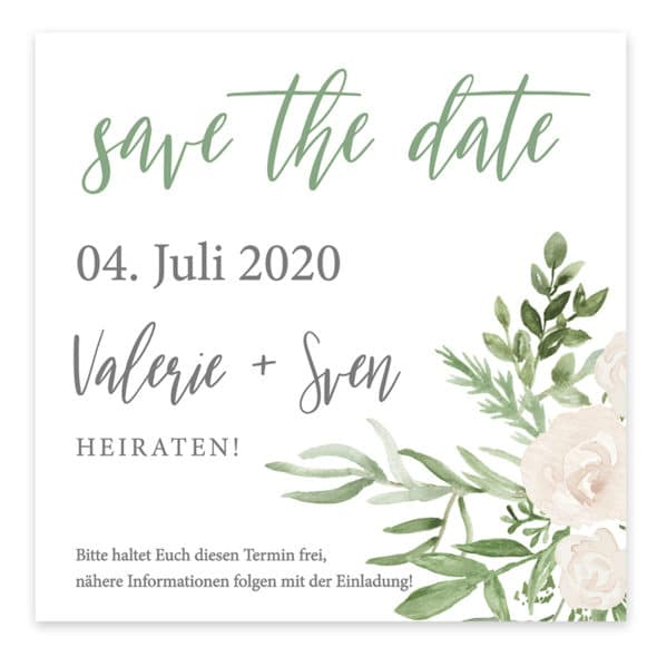 Save the Date Karte Greenery 7285265