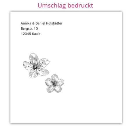Acrylglas Einladung Kirschblüte 190207