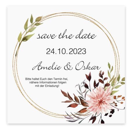 Save the Date Karte Herbst Pastell 19502