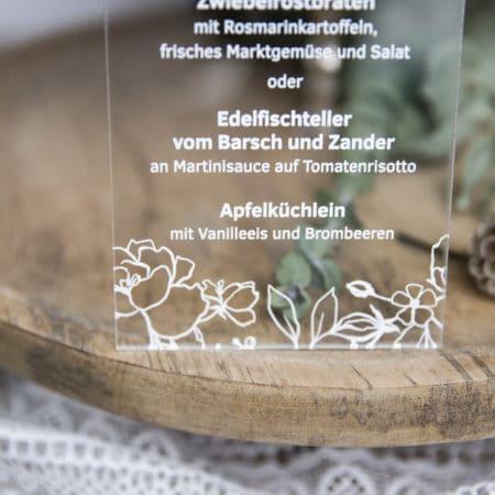Acrylglas Menü Blumen 190234