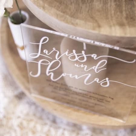 Acrylglas Einladung Vintage 190209