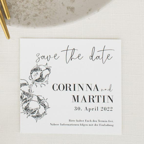 Golden Circle Cotton Save the Date 210221