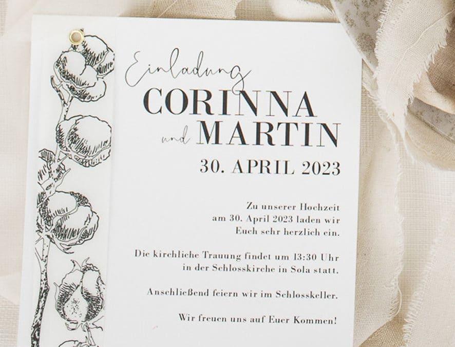 Golden Circle Cotton Einladung 210231
