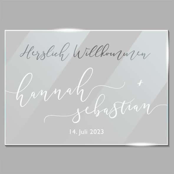 190239 ACRYLGLAS WILLKOMMEN VINTAGE – SITZPLAN