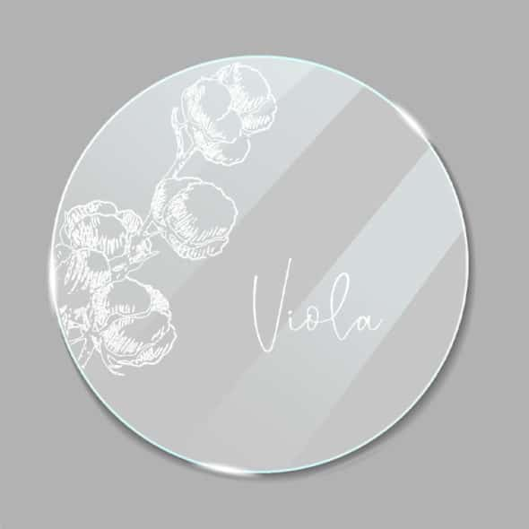 Acrylglas Namensschild rund Cotton 1902413
