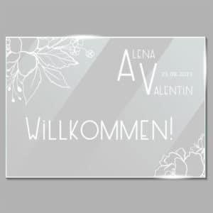 190244 ACRYLGLAS WILLKOMMEN BLUMEN – SITZPLAN