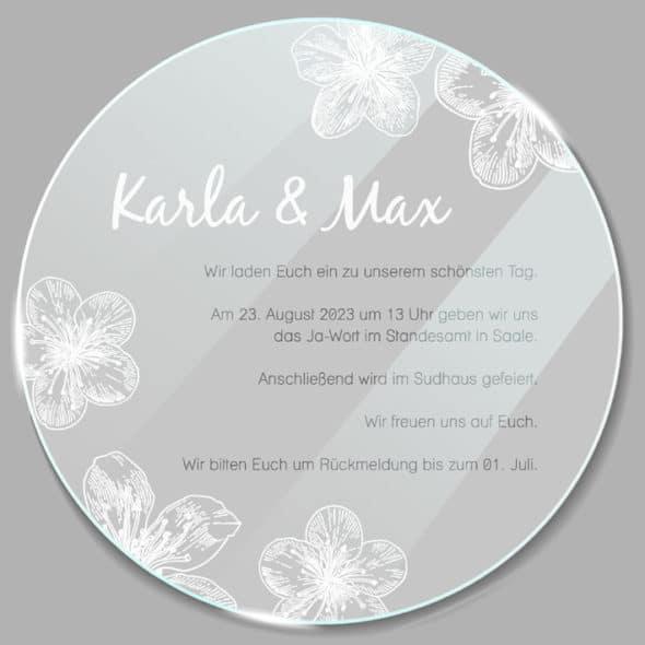 Acrylglas rund Einladung Kirschblüte 190257
