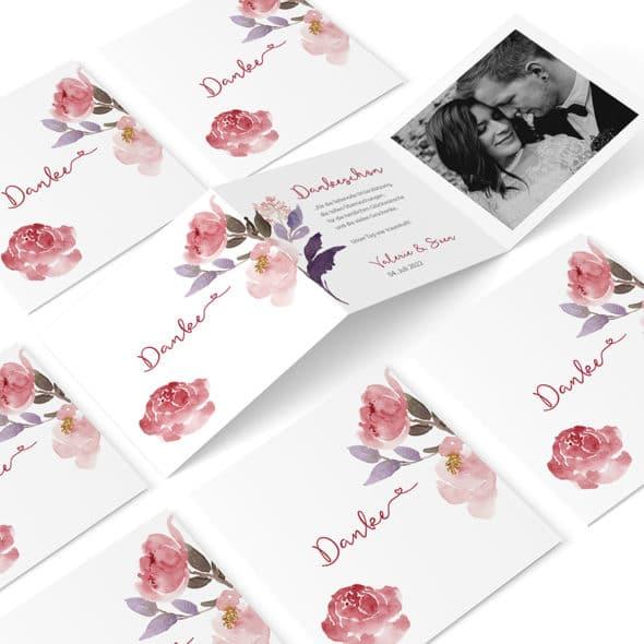 Dankeskarte Flowerpower 7289262 Zickzack