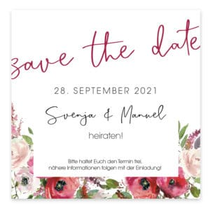 Save the Date Karte Watercolorflower 39203