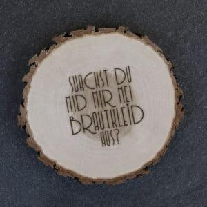 Baumscheibe Brautkleid Frage auf bayerisch