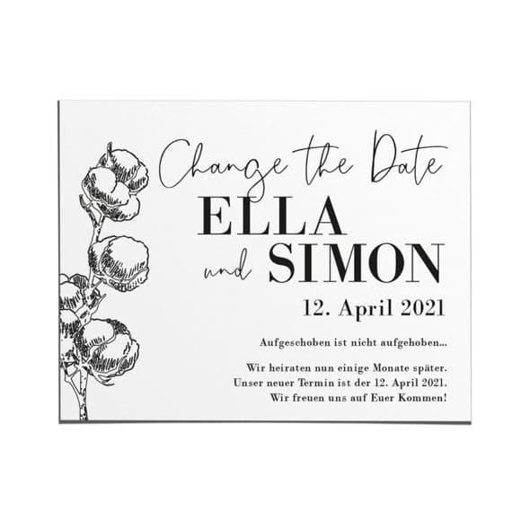 Change the Date Karte – Cotton