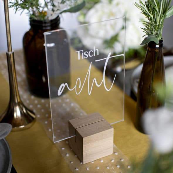 Acrylglas Tischnummer modern